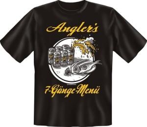 T-Shirt ANGLERS 7 GÄNGE MENÜ (Größe:: XXL (56))