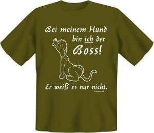 T-Shirt BEI MEINEM HUND BIN ICH DER BOSS (Größe:: L (50/52))