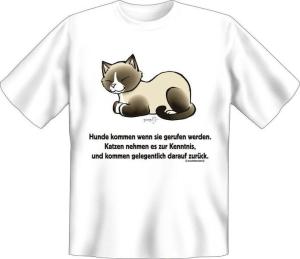 T-Shirt KATZEN NEHMEN ES ZUR KENNTNIS (Größe:: XL (52/54))