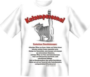 T-Shirt KATZENPERSONAL (Größe:: XL (52/54))