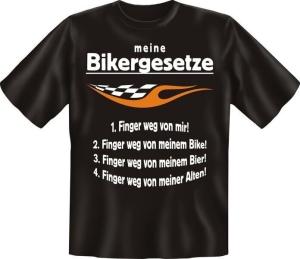 T-Shirt MEINE BIKERGESETZE (Größe:: L (50/52))