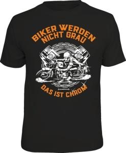 T-Shirt BIKER WERDEN NICHT GRAU (Größe:: L (50/52))