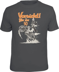 T-Shirt VORSICHT BIKER ÜBER 50 (Größe:: L (50/52))