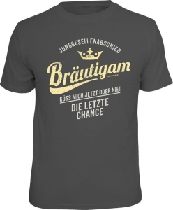T-Shirt Junggesellenabschied Bräutigam KÜSS MICH (Größe:: XXL (56))