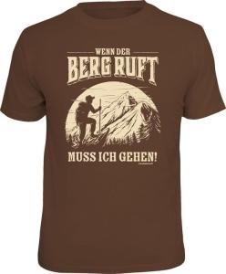 Fun Shirt WENN DER BERG RUFT (Größe:: L (50/52))