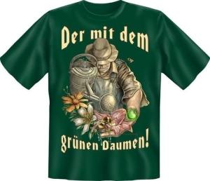 Fun Shirt GRÜNEN DAUMEN Gartengott (Größe:: XXL (56))