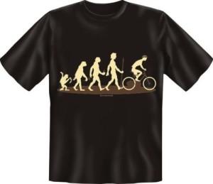 T-Shirt EVOLUTION Fahrradfahrer Fahrrad (Größe:: S (42/44))