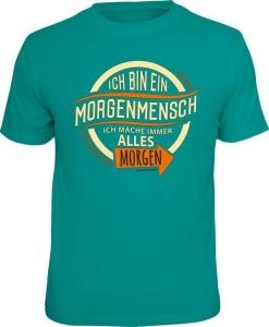 T-Shirt Morgenmensch (Größe:: S (42/44))