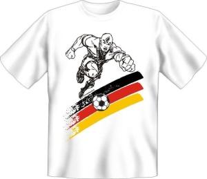 T-Shirt Deutschland Fussball Ball Kämpfer (Größe:: S (42/44))