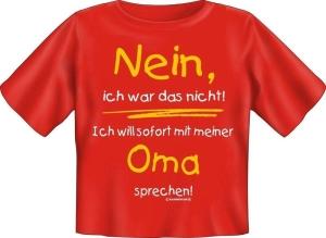 T-Shirt Baby Oma sprechen (Größe:: 56-62)