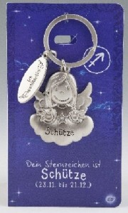 Schlüsselanhänger Sternzeichen SCHÜTZE Schutzengel