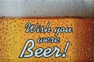 Fussmatte Wish you were Beer Türvorleger Fußabtreter Bier