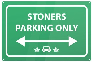 Blechschild Stoners Parking only Hanf Cannabis