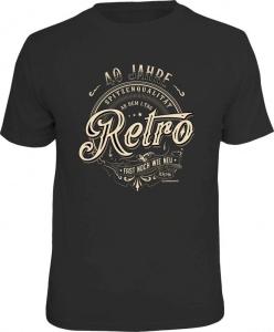 T-Shirt 40 JAHRE SPITZENQUALITÄT RETRO (Größe:: L (50/52))