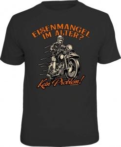 T-Shirt EISENMANGEL IM ALTER Biker Motorrad (Größe:: L (50/52))