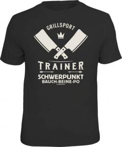 Fun Shirt GRILLSPORT TRAINER grillen T-Shirt Spruch Grill (Größe:: L (50/52))