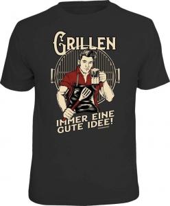 Fun Shirt Grillen IMMER EINE GUTE IDEE T-Shirt Spruch Grill (Größe:: L (50/52))