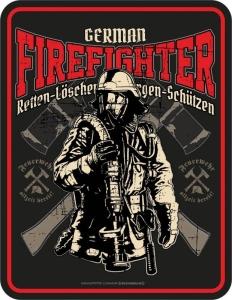 Blechschild GERMAN FIREFIGHTER Feuerwehrmann Feuerwehr