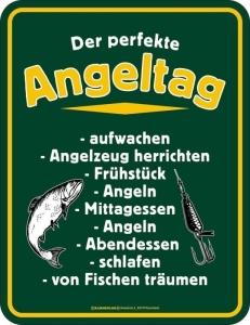 Blechschild DER PERFEKTE ANGELTAG
