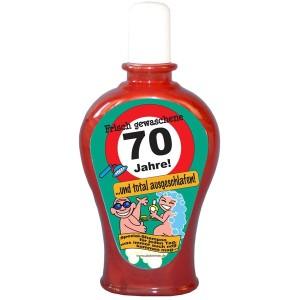 Frisch gewaschene 70 Jahre Shampoo Geburtstag Scherzartikel 350 ml