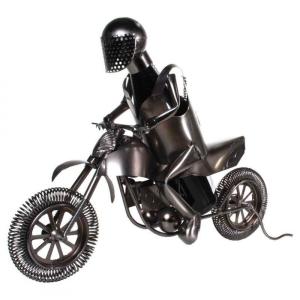 Flaschenhalter Motocrossfahrer aus Metall Motorrad