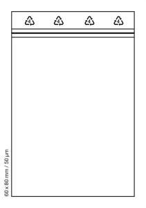 Tütchen 60x80 mm tranparent Druckverschluss Beutel Zip Bags (Anzahl: 100 Stück)