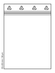 Tütchen 55x65 mm tranparent Druckverschluss Beutel Zip Bags (Anzahl: 100 Stück)