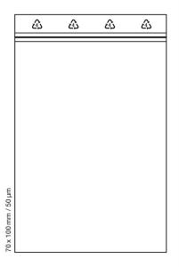 Tütchen 70x100 mm tranparent Druckverschluss Beutel Zip Bags (Anzahl: 100 Stück)