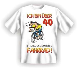 Fun Shirt Ü 40 helfen SIE mir aufs Fahrrad (Größe:: L (50/52))