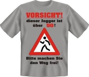 T-Shirt VORSICHT DIESER JOGGER IST ÜBER 50 (Größe:: L (50/52))