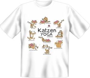 T-Shirt Katzen YOGA (Größe:: XL (52/54))