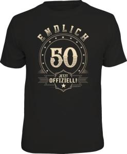 T-Shirt ENDLICH 50 JETZT OFFIZIELL (Größe:: L (50/52))