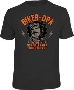 T-Shirt BIKER OPA NORMALER OPA NUR COOLER (Größe:: L (50/52))