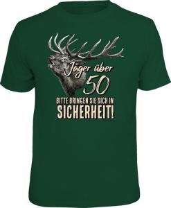 T-Shirt JÄGER ÜBER 50 BRINGEN SIE SICH IN SICHERHEIT (Größe:: XXL (56))