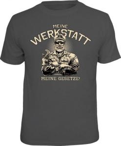 T-Shirt MEINE Werkstatt MEINE GESETZE (Größe:: S (42/44))