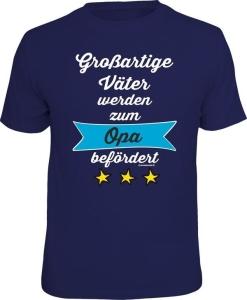 T-Shirt großartige Väter zum Opa befördert (Größe:: L (50/52))