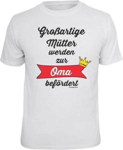 T-Shirt großartige Mütter zur Oma befördert (Größe:: L (50/52))