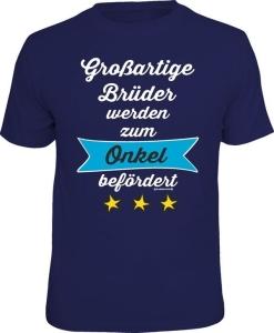 T-Shirt großartige Brüder zum Onkel befördert (Größe:: L (50/52))