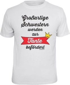 T-Shirt großartige Schwestern zur Tante befördert (Größe:: L (50/52))