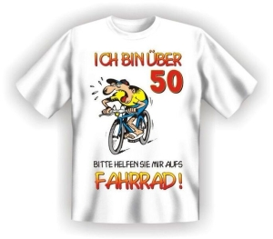 Fun Shirt Ü 50 helfen SIE mir aufs Fahrrad (Größe:: L (50/52))