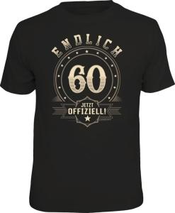 T-Shirt ENDLICH 60 JETZT OFFIZIELL (Größe:: XXL (56))