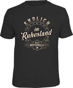 T-Shirt ENDLICH IM RUHESTAND JETZT OFFIZIELL (Größe:: S (42/44))