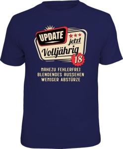 T-Shirt UPDATE JETZT VOLLJÄHRIG 18 (Größe:: XXL (56))