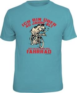 T-Shirt ÜBER 40 HELFEN SIE MIR AUFS FAHRRAD (Größe:: M (46/48))