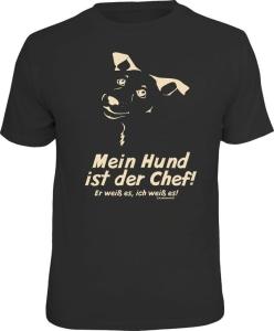 T-Shirt MEIN HUND IST DER CHEF (Größe:: L (50/52))