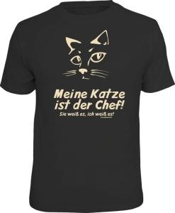 T-Shirt MEINE KATZE IST DER CHEF (Größe:: L (50/52))