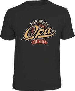 Fun Shirt DER BESTE OPA DER WELT Großvater T-Shirt (Größe:: S (42/44))