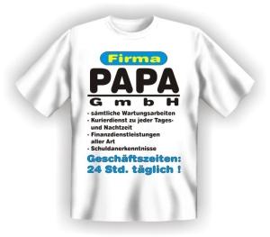 Fun Shirt FIRMA PAPA GMBH Vater DAD T-Shirt Spruch witzig Geschenk Party (Größe:: S (42/44))