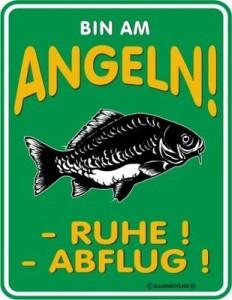 Blechschild Bin am Angeln Angler PETRI HEIL Schild FUN Blech