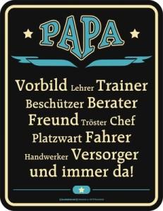 Blechschild Papa Vorbild Vater Spruch Schild Blech